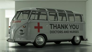 Photo of Volkswagen Kombi 'Thank You' Untuk Pejuang Corona