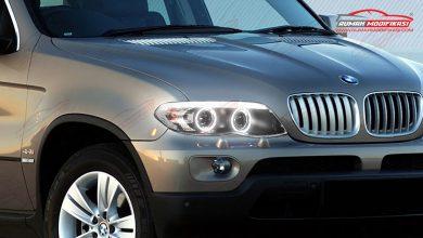 Photo of Make Over BMW X5 2004, Berkilau Pakai Headlamp Halo Rim